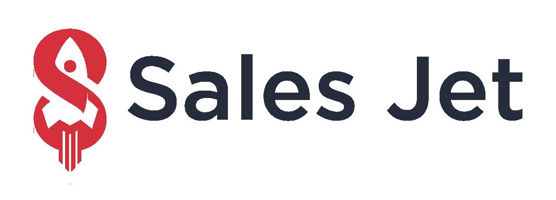 Sales Jet logo on a dark background